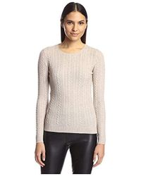 SOCIETY NEW YORK - Cable Crew Neck Sweater - Lyst