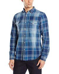 Joe's Jeans - Ralston Idigo Plaid Button Down Shirt - Lyst