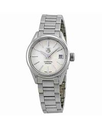 Tag Heuer - War2416.ba0770 Carrera Analog Display Swiss Automatic Silver Watch - Lyst