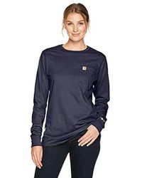 965064f1 Carhartt - Flame Resistant S Force Cotton Long Sleeve Crew T Shirt - Lyst