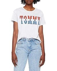 c2d1b3079 Tommy Hilfiger - T Shirt Short Sleeve Graphic Logo Tee Relaxed Fit - Lyst