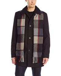 Vince Camuto - Wool-blend Coat With Scarf - Lyst