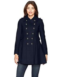 Via Spiga - Double Breasted Wool Fit And Flare Skating Coat - Lyst