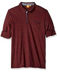 71754bc7b BOSS - Boss Orange Patcherman Long Sleeved Polo Shirt - Lyst