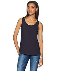 Daily Ritual - Shirt-tail Scoop-neck Sleeveless Shell - Lyst