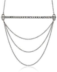 Rebecca Minkoff - Bar And Chain Pendant Necklace - Lyst