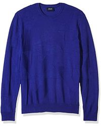 Armani Jeans - Plus Size All Over Eagle Logo Knit Pullover - Lyst
