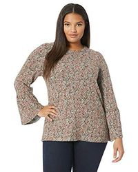 Lucky Brand - Plus Size Printed Hacci Bell Sleeve Top - Lyst
