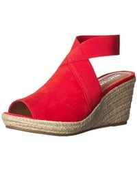 d13688d14f0 Lyst Free People Womens Hayfield Wedge In Red - Pixels1st.com