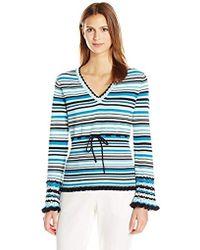 Nanette Nanette Lepore - Ls Multi Stripe Sweater - Lyst