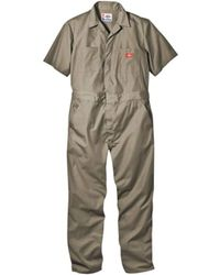 Dickies - Short-sleeve Coverall Stain & Wrinkle Resistant Cotton/poly - Lyst