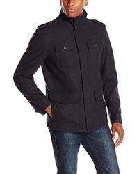 Dockers - Wool Melton Four Pocket Military Field Jacket - Lyst