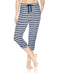 Kensie - Striped Lounge Cropped Jogger Pant - Lyst