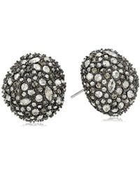 Alexis Bittar - Organic Pod Shape Crystal Encrusted Button Post 10k Plating Stud Earrings - Lyst