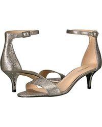 Nine West - Leisa Metallic Heeled Sandal - Lyst