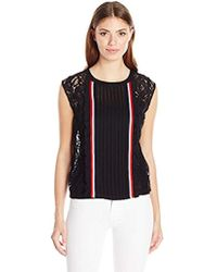 Plenty by Tracy Reese - Sleeveless Lace Tee - Lyst