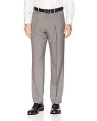 Franklin Tailored - Expandable Waist Classic-fit Pleated Dress Pants, -light Grey, 32w X 34l - Lyst