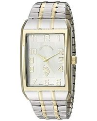 U.S. POLO ASSN. - Classic Usc80046 Two-tone Analogue Silver Dial Expansion Watch - Lyst