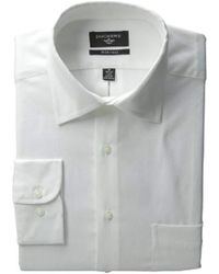 Dockers - Solid-white Texture-dress Shirt - Lyst