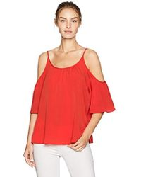 c3555d1a0812e3 French Connection - Summer Crepe Light Cold Shoulder Top - Lyst