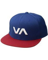 32c684ba68aa4 RVCA Finley Mens Trucker Hat in Blue for Men - Lyst