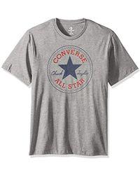59dd94a1c5ee Lyst - Converse Chuck Raglan T-shirt in Gray for Men
