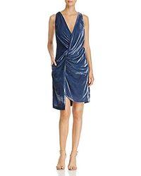 Kenneth Cole - Twist Wrap Velvet Dress - Lyst