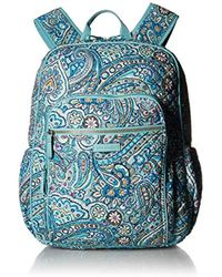 54e8470daa73 Vera Bradley - Iconic Campus Backpack (classic Navy) Backpack Bags - Lyst