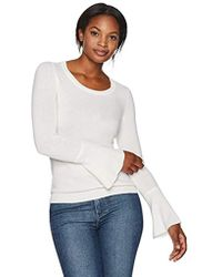 Lark & Ro - 100% Cashmere Soft Bell Sleeve Sweater - Lyst