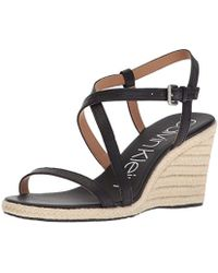 Calvin Klein - Bellemine Espadrille Wedge (black) Women's Wedge Shoes - Lyst