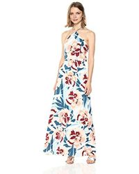 PARIS SUNDAY - Halter Neck Maxi Dress With Tie And Open Back Detail - Lyst