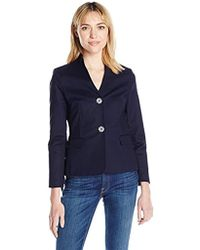 Nanette Nanette Lepore - Long Sleeve Jacket With Side Lace Up - Lyst