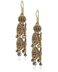 Miguel Ases - Large Pyrite 3-d Byzantine Drop Earrings - Lyst