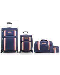 """Tommy Hilfiger - North Harbour Four Piece Luggage Set (28"""", 21"""", Duffle, Toiletry Kit) - Lyst"""