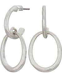 The Sak - S Double Hoop Earrings - Lyst