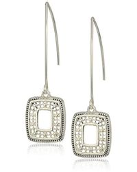 Napier - Silver With Antique Threader Drop Earrings - Lyst