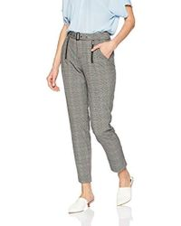 Guess - Alexa Plaid Trousers - Lyst