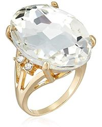 Guess - Ring With Stones, Gold, 7 - Lyst