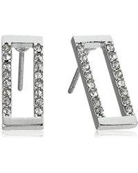 Rebecca Minkoff - Geo Rectangle Stud Earrings - Lyst