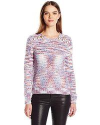 Kensie - Space Dye Punk Yarn Sweater, - Lyst