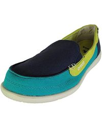 a9fac928568 Lyst - Crocs™ Walu Canvas Loafer in Green - Save 17%