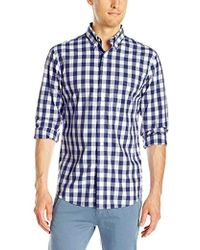 Jack Spade - Sheppard Trapunto Large Gingham Collar Shirt - Lyst