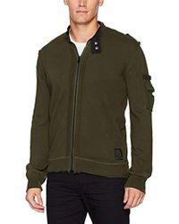 Buffalo David Bitton - Wazip Long Sleeve Full Zip Mockneck Washed Fashion Sweater - Lyst