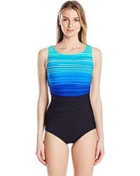 Reebok - Printed One-piece Swimsuit - Lyst