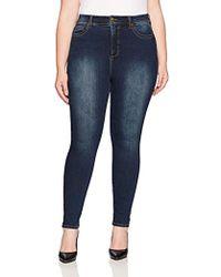 1cb2958d2b6 Lyst - RACHEL Rachel Roy Curvy Plus Size Blue Wash Culotte Jeans in Blue