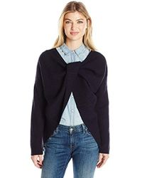 French Connection - Twist Back Shaker Knits Sweater - Lyst