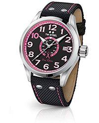 TW Steel - ' Volante' Quartz Stainless Steel And Nylon Dress Watch, Color:black (model: Tw973) - Lyst