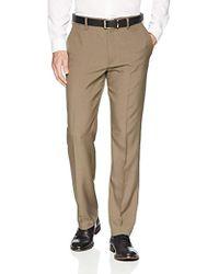 Franklin Tailored - Expandable Waist Classic-fit Dress Pants, -brown, 36w X 34l - Lyst