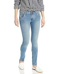 b15d283709c Hudson Jeans Collin Mid-rise Skinny In Hushed in Blue - Lyst