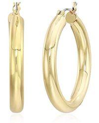 Anne Klein - Gold Small Clicktop Hoop Earrings, Gold - Lyst
